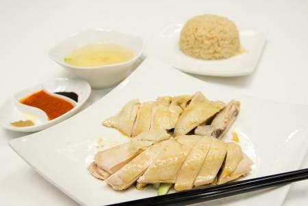 Famous Asian style food, Hainan chicken rice