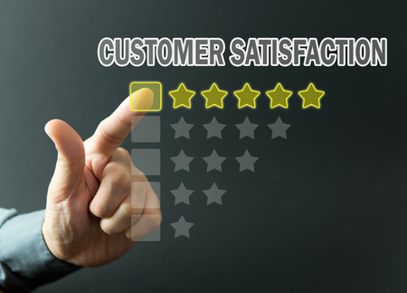 Photo for Five stars rating achieved for customer satisfaction survey - Royalty Free Image