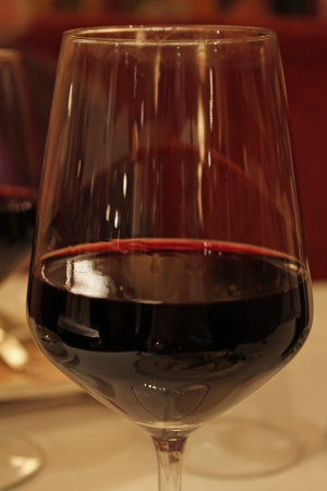 A glas of red wine