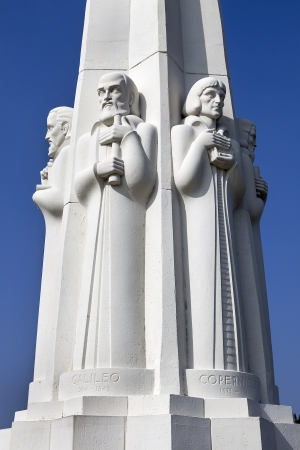 Astronomer s monument at the Griffith Observatory in Los Angeles, California