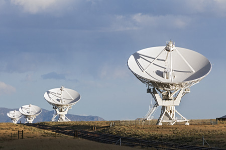 Very Large Array Satellite Dishes in New Mexico, USA