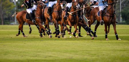 Foto de Soft focus motion of Polo player during Polo match. - Imagen libre de derechos