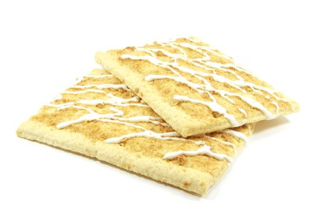 Apple Pop Tarts for the Toaster to Be Baked Isolated