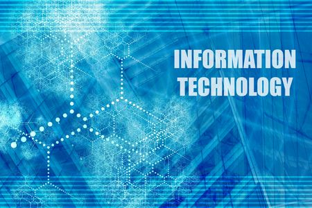 Information Technology Blue Abstract Background with Internet Network