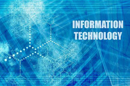 Foto de Information Technology Blue Abstract Background with Internet Network - Imagen libre de derechos