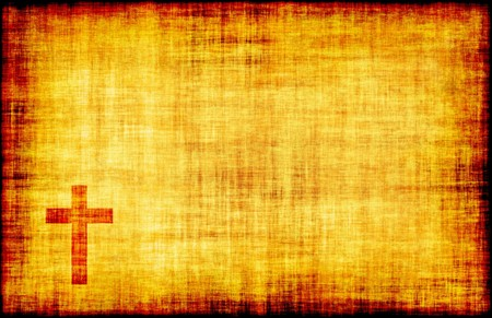 Christian Cross Bible Poster Design as Abstract