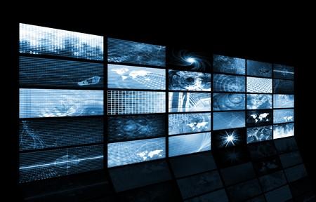 Futuristic Web Cyber Data Grid Color Background