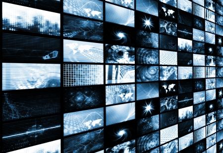 Photo pour Futuristic Digital Age TV and Channels Background - image libre de droit