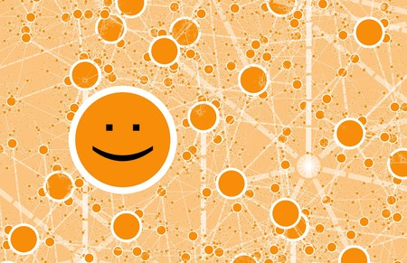 Social Circle Online Friend Network Abstract Art