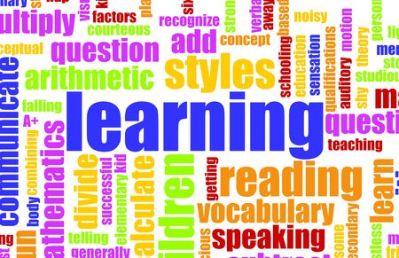 Photo pour Learning is Fun Vocabulary Elementary School Art - image libre de droit