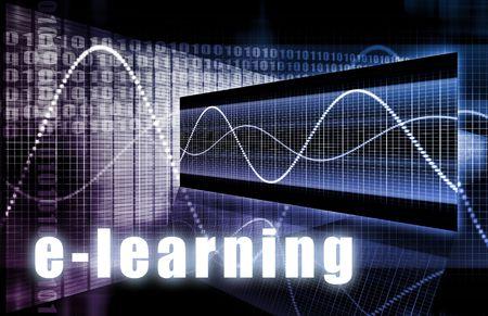 Photo pour E-Learning Online Web Tech as Abstract Background - image libre de droit