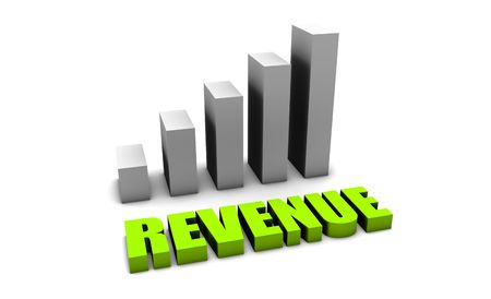 Green Revenue of a Company Profits in 3d