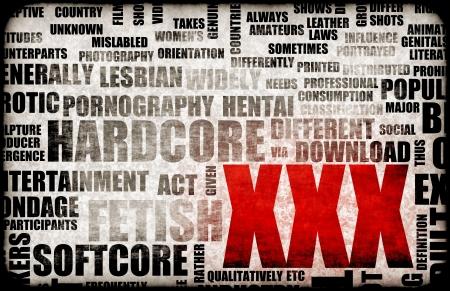 XXX Porn Sex Industry Concept Grunge Background