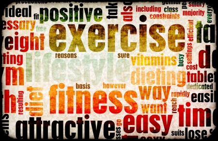 Exercise Wordcloud Mural Wallpaper Thumbnail