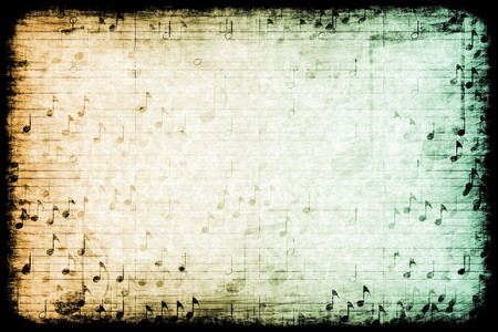A Music Themed Abstract Grunge Background Texture