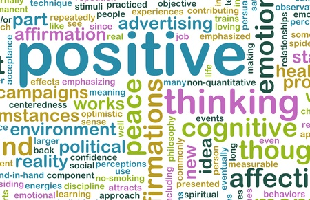 Photo pour Thinking Positive as an Attitude Abstract Concept - image libre de droit
