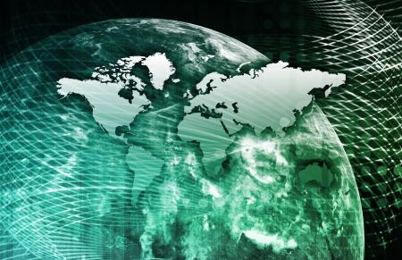 Photo pour Security Network Data of the World Background - image libre de droit
