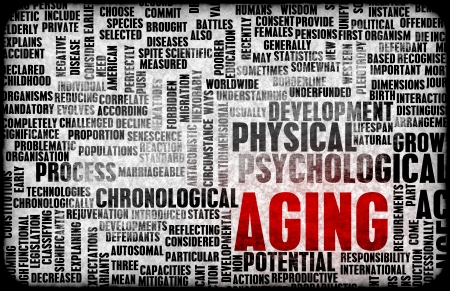 Aging or Ageing Concept of Growing Older Gracefully