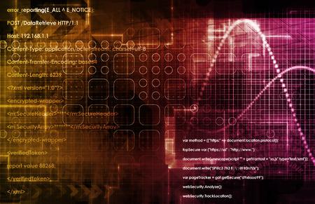 Photo pour Data Architecture and Management Technology in 3d - image libre de droit