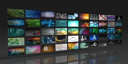 Photo for Multimedia Background for Digital Network on the Internet - Royalty Free Image