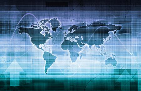 Photo pour Global Technology Solutions on the Internet Concept Art - image libre de droit