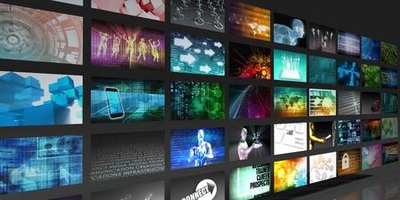 Photo pour Video Screens Abstract Background for Multimedia Concept - image libre de droit