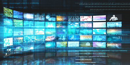 Photo for Media Technologies Concept as a Video Wall Background - Royalty Free Image