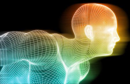 Photo pour Fitness Technology Science Lifestyle as a Concept - image libre de droit