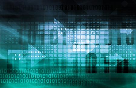 Photo pour IT Services or Information Technology Solutions as Art - image libre de droit