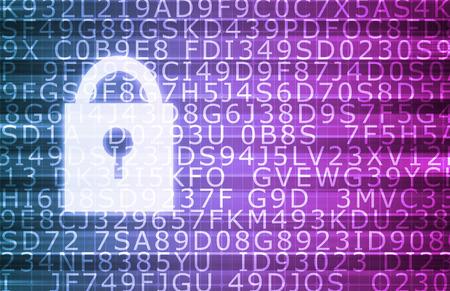 Photo pour Security Technology Online and Digital Privacy Encryption - image libre de droit