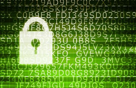 Photo pour Secure Data with Encryption to Protect Vulnerable Information - image libre de droit