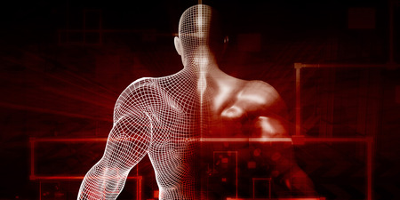 Photo pour Digital Health System Software and Body Technology as Concept - image libre de droit