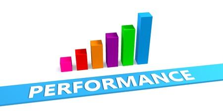 Foto de Great Performance Concept with Good Chart Showing Progress - Imagen libre de derechos