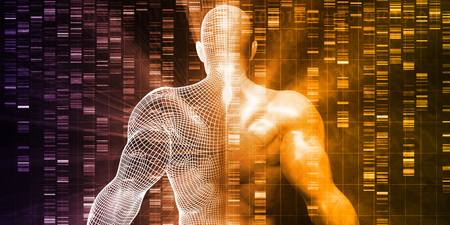 Photo for DNA Sequencing or Sequence as a Science Abstract - Royalty Free Image