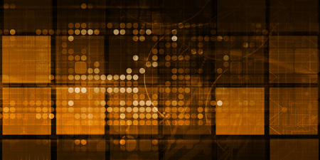 Photo pour Data Solutions Science Presentation Background Abstract Art - image libre de droit