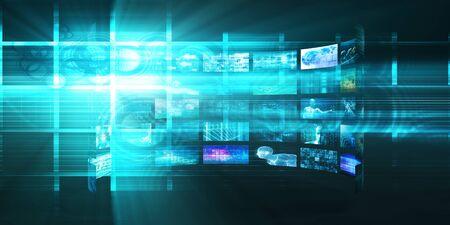 Photo pour Digital Multimedia Broadcasting Technology as Media Concept - image libre de droit