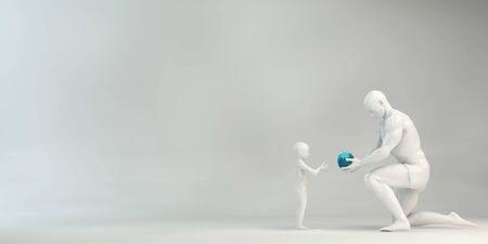 Photo pour Investing in the Future of Our Children Parenting Concept - image libre de droit