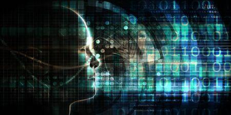 Foto de Artifician Intelligence And Neural Network Learning System Art - Imagen libre de derechos