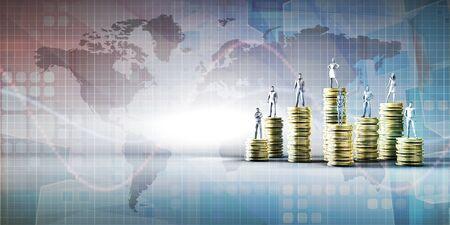 Photo pour Digital Banking Platform Services and Fintech Concept - image libre de droit