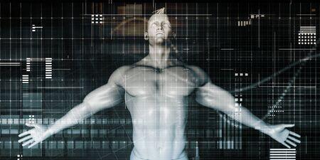 Photo pour Healthcare Technology and Medical Scan of a Body Diagnosis - image libre de droit