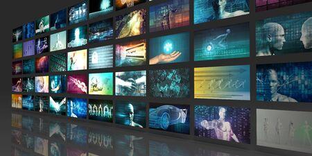 Photo pour Digital Multimedia Entertainment and Internet Business Concept - image libre de droit