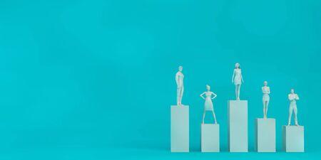 Photo pour Career Opportunities and Employment Business Success Art - image libre de droit