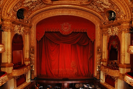 Stockholm, Sweden - December 30, 2008: Royal Swedish Opera in Stockholm, part of the luxurious interior
