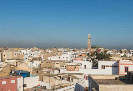 The Grand Mosque of Hassan II with building in Casablanca, Morocco