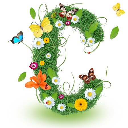 Beautiful spring letter C