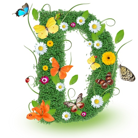 Beautiful spring letter D