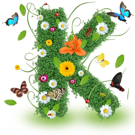 Beautiful spring letter K