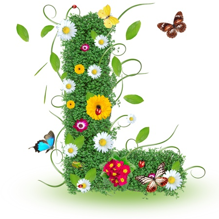 """Beautiful spring letter """"L"""""""
