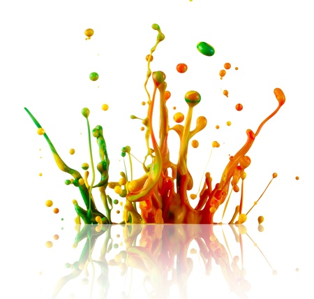 Splashing colours