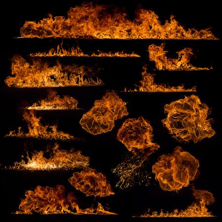 Photo pour Fire flames collection - image libre de droit